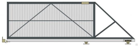 Откатные ворота DoorHan 4000/2000 с автоматикой