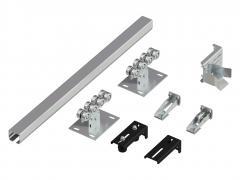 Система роликов и направляющих для балки х/к  60х55х3 L=6000